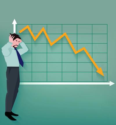 Падение доходов от предпринимательской деятельности