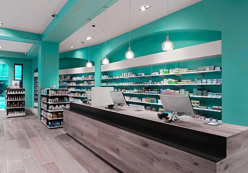 Внутренний интерьер аптеки